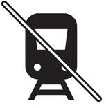 Piktogramm Unzumutbarkeit der Benützung öffentlicher Verkehrsmittel