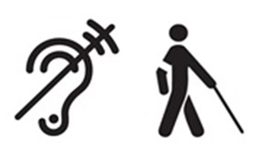Piktogramm taubblind