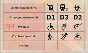 Rückseite des Behindertenpasses