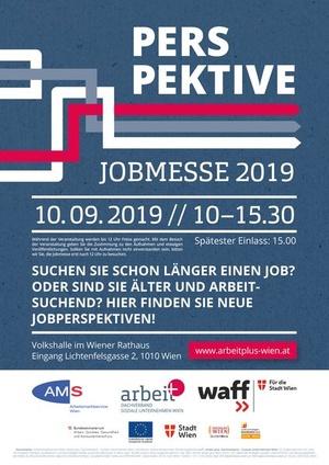 Plakat zur Jobmesse 2019