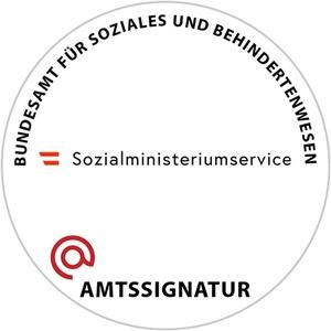 Die Bildmarke der Amtssignatur des Sozialministeriumservice